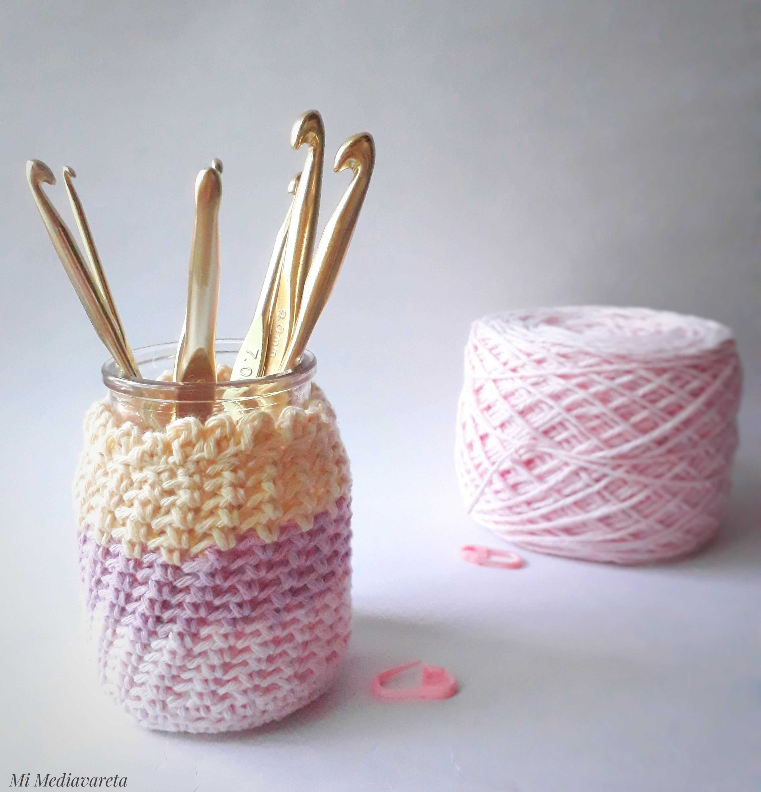 Tutorial para tejer una Funda para frasco a crochet