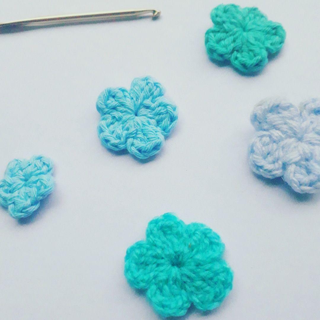 Mini Flor Crochet Mi Mediavareta