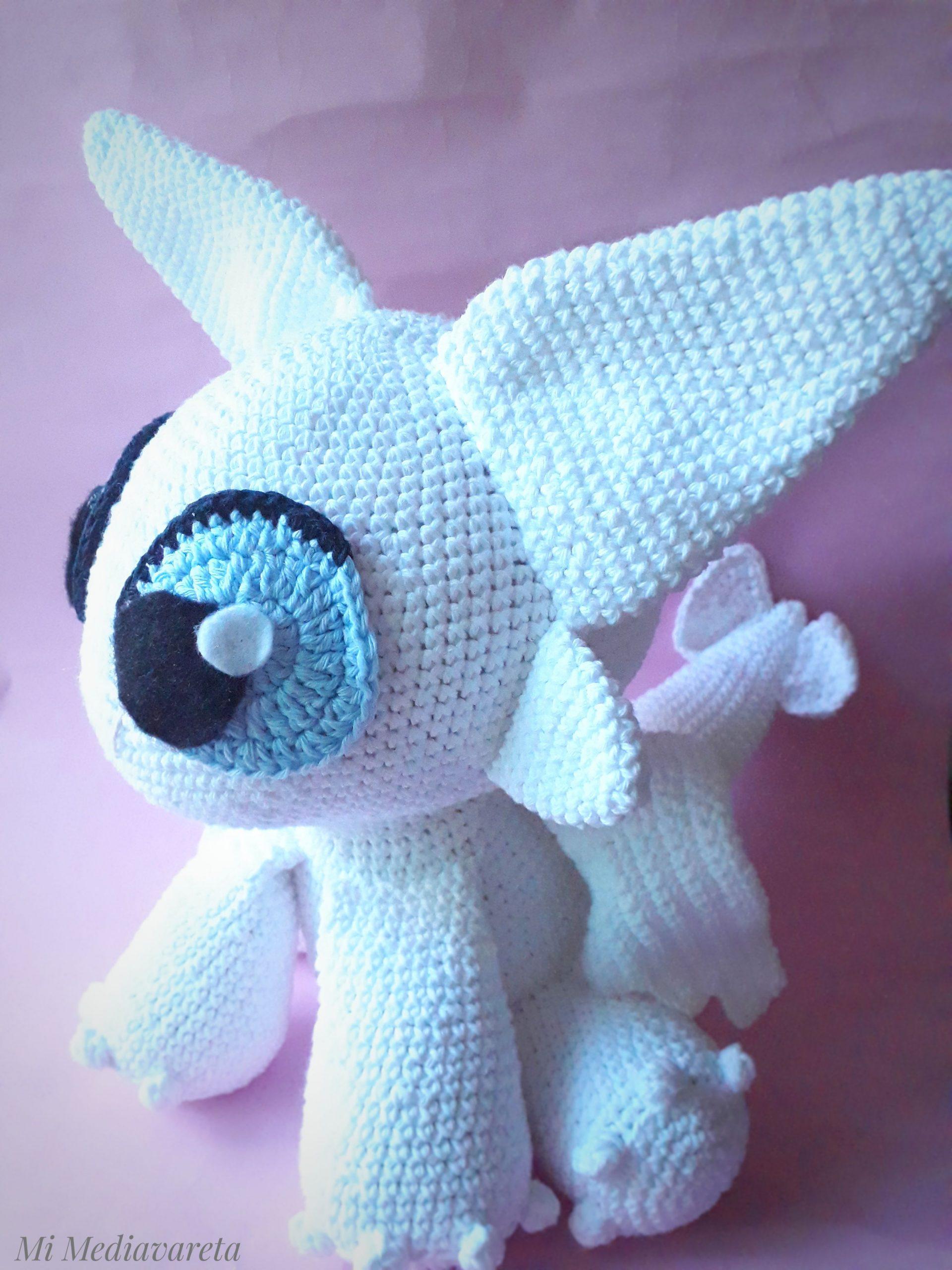 furia luminos tejida a crochet con patrón