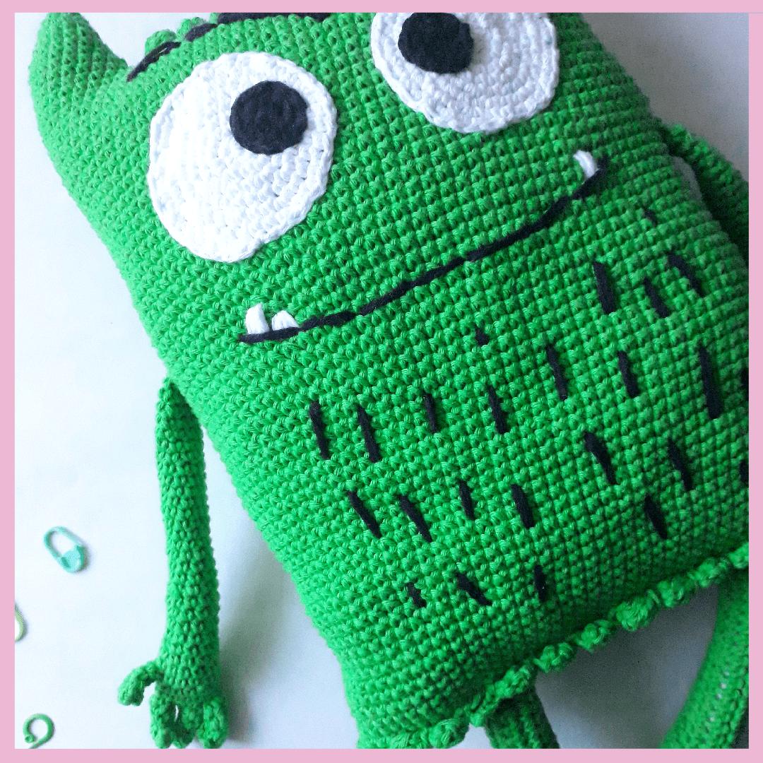 montruo de las emociones tejido a crochet