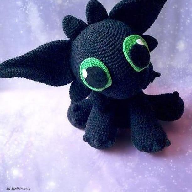 amigurumi toothless/chimuelo tejido a crochet