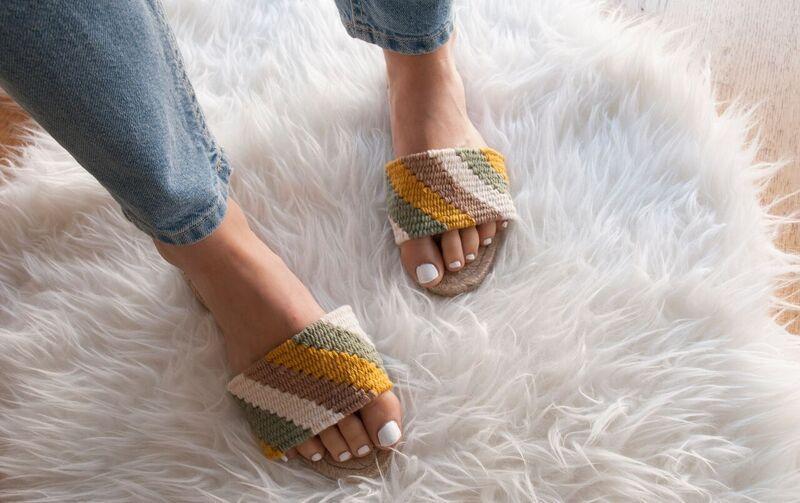 Sandalias en tapestry