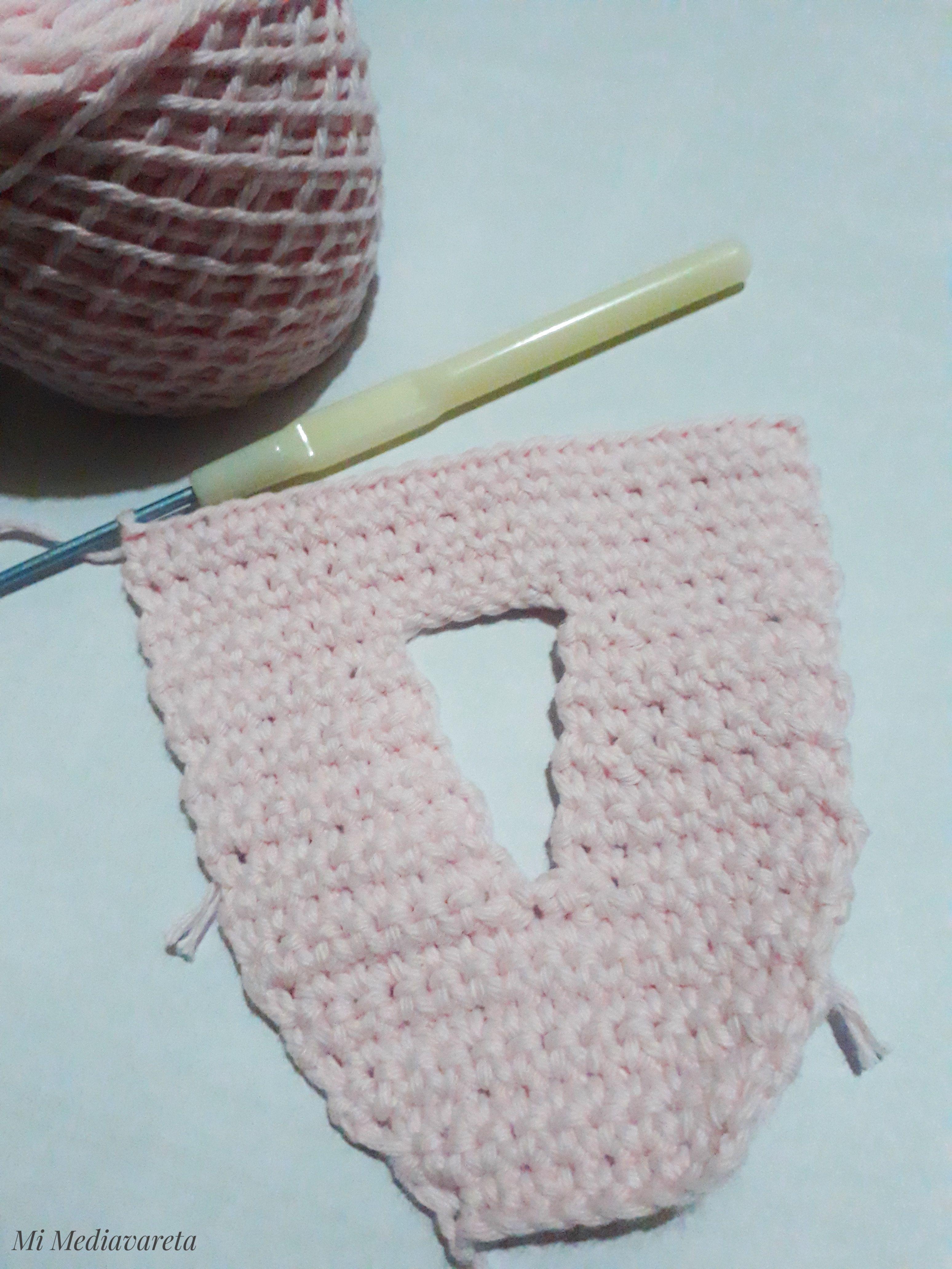letra a crochet