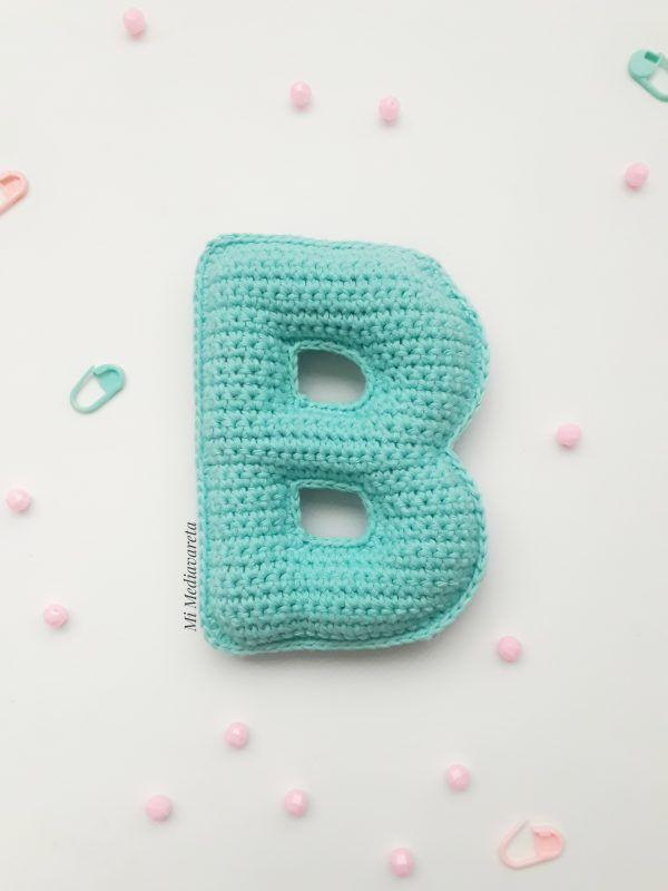 patron letra b a crochet