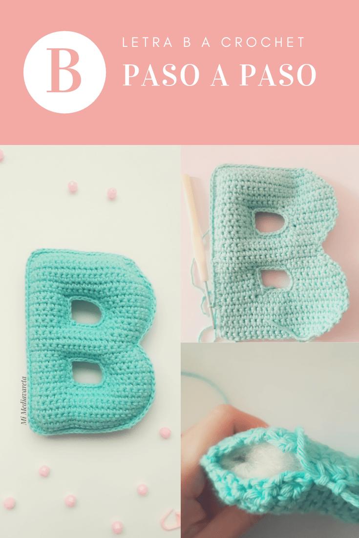 tutorial para tejer la letra b a crochet