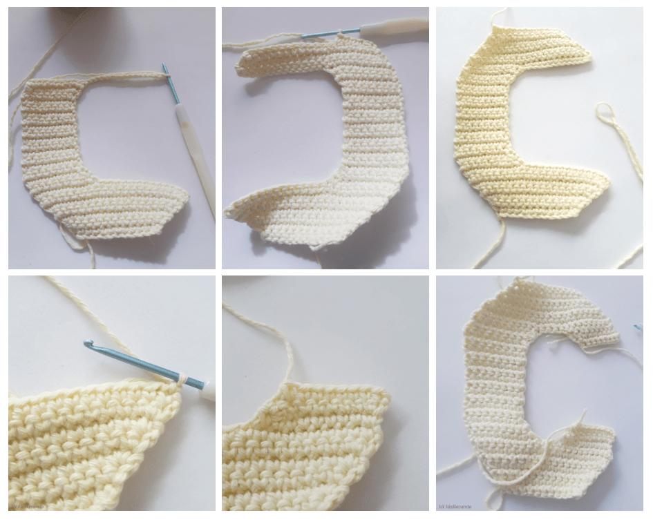 tutorial letra C a crochet paso a paso