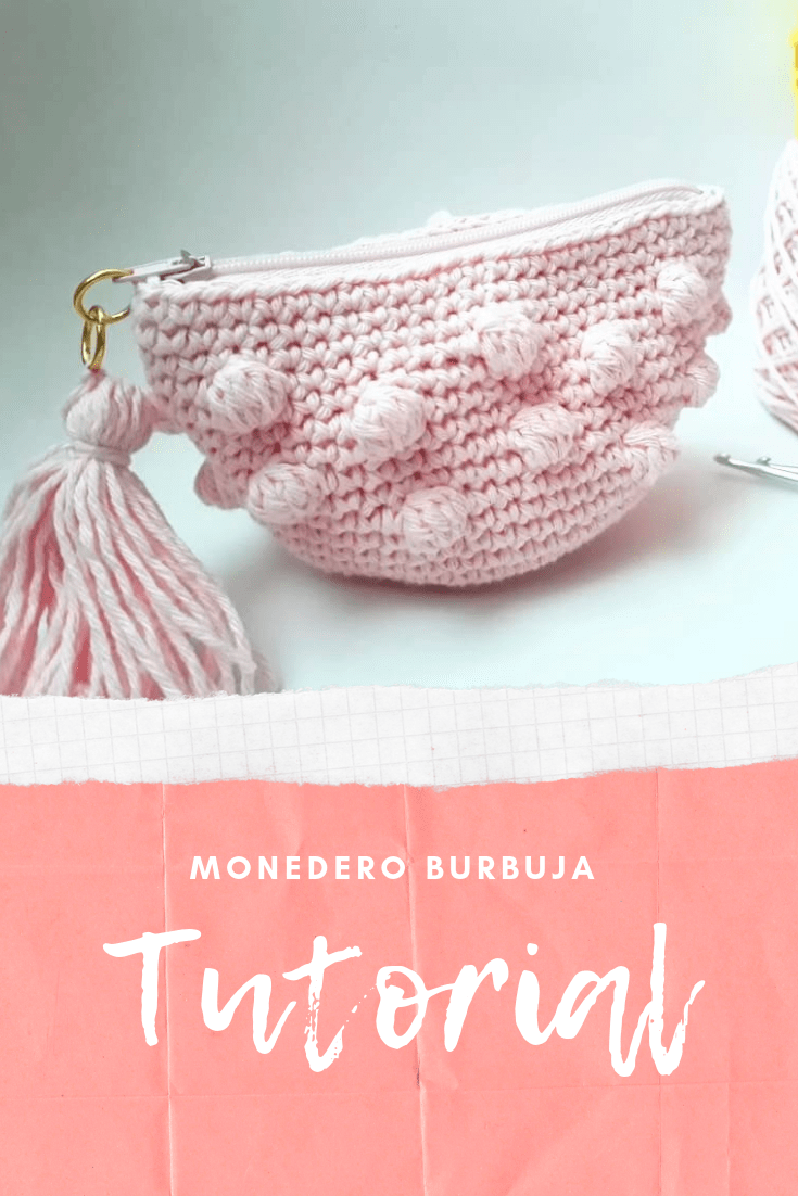 Monedero tejido a crochet con tutorial paso a paso
