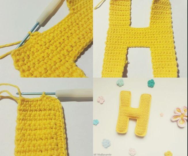 letras del abecedario tejida a crochet