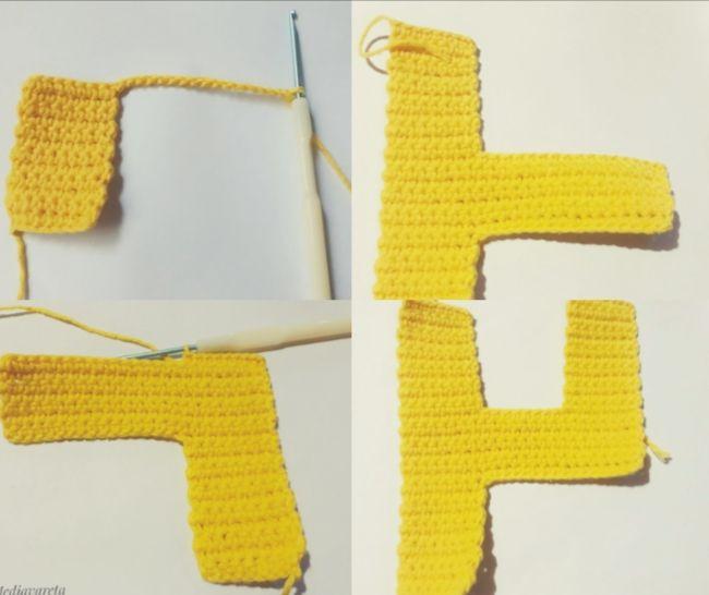 tutorial para tejer las letras del abecedario a crochet