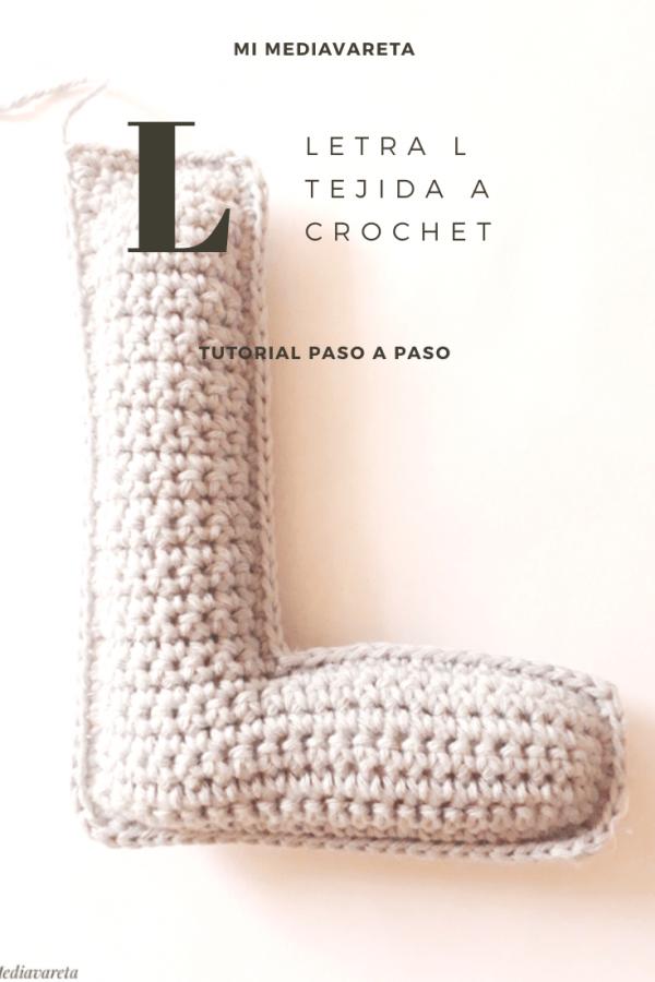 tutorial para tejer la letra L a crochet