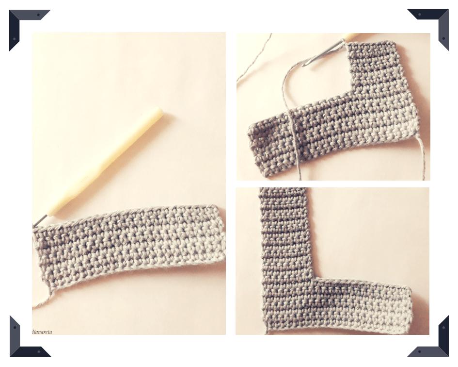 patrón para tejer la letra L del abecedario a crochet con fotos paso a paso