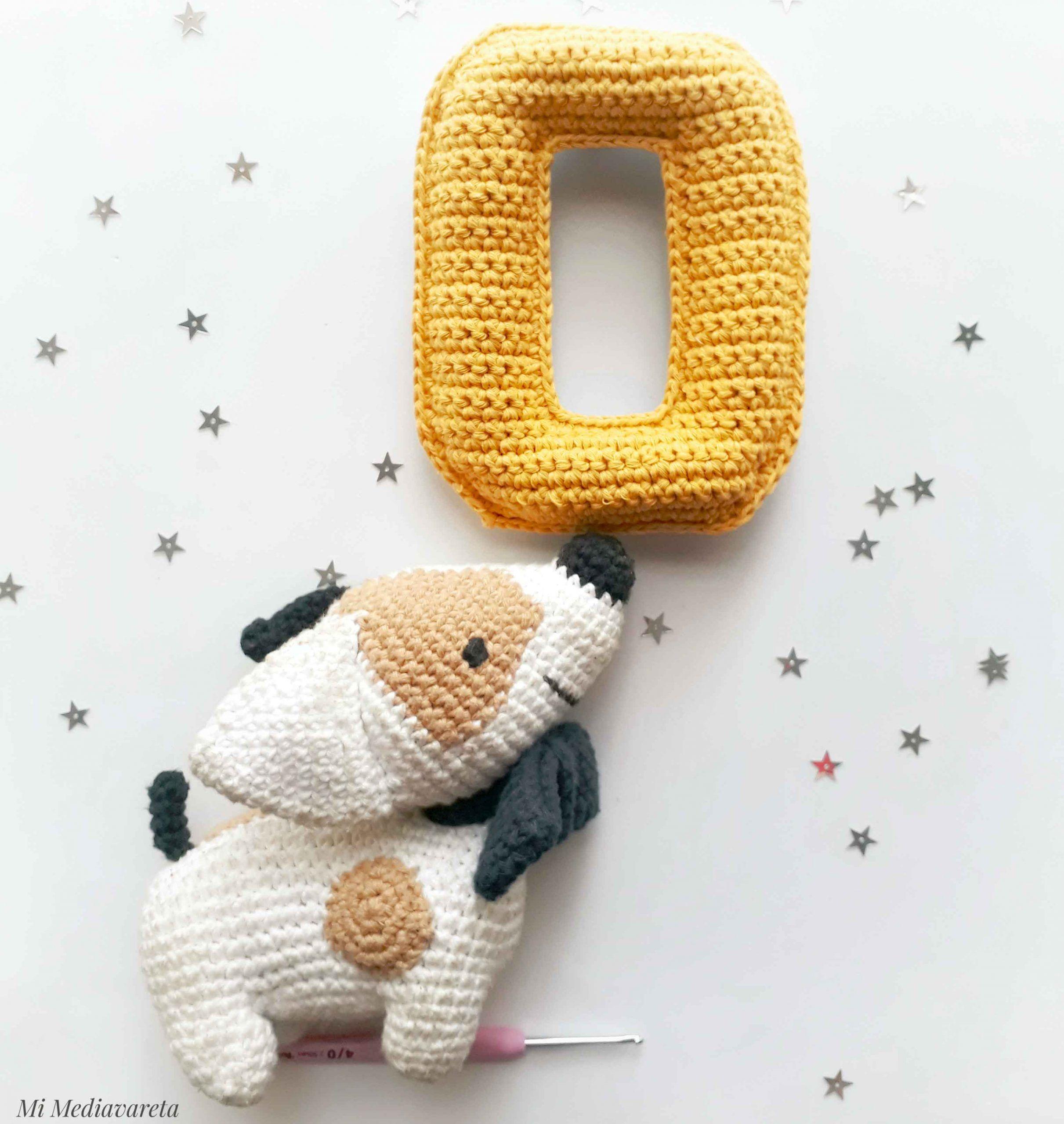 Tutorial para tejer la letra O del Abecedario a crochet