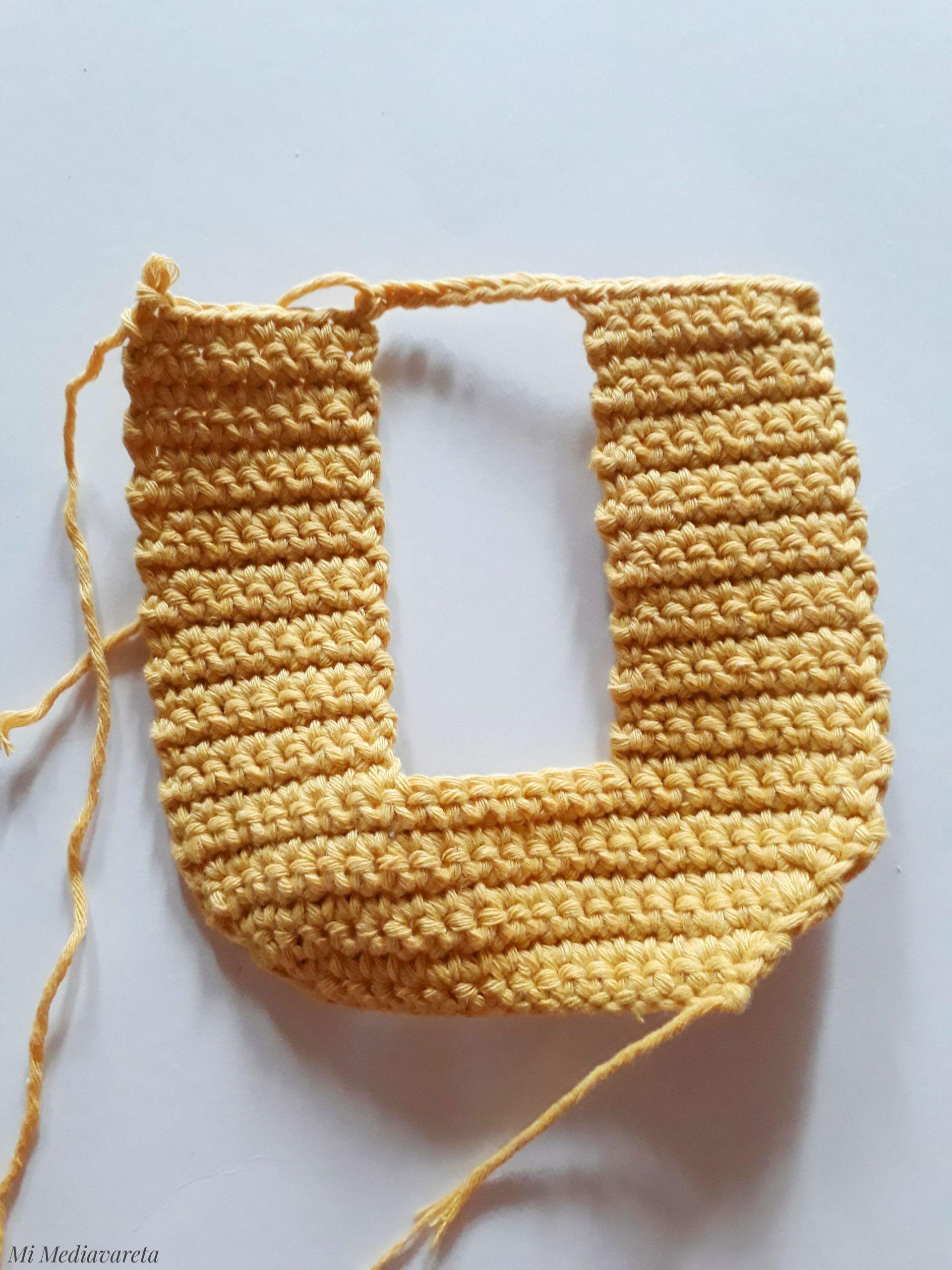 Patrón letra O a crochet