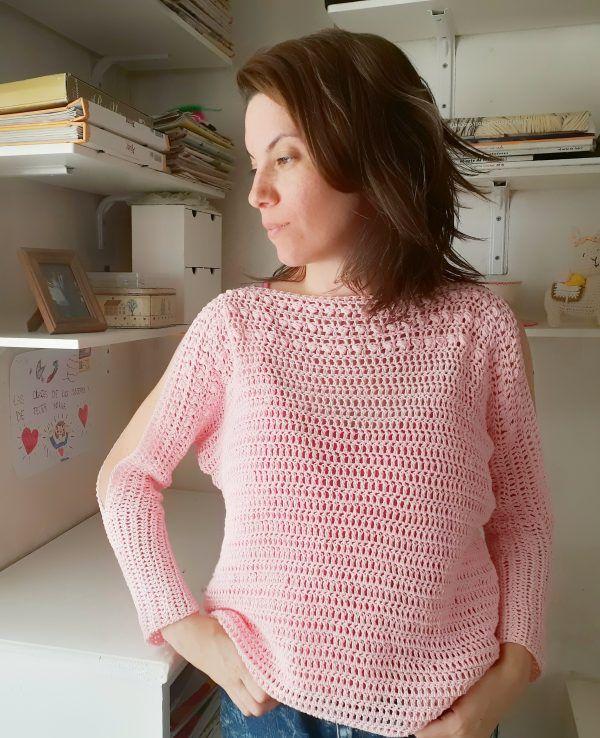 tutorial para tejer un sweater a crochet