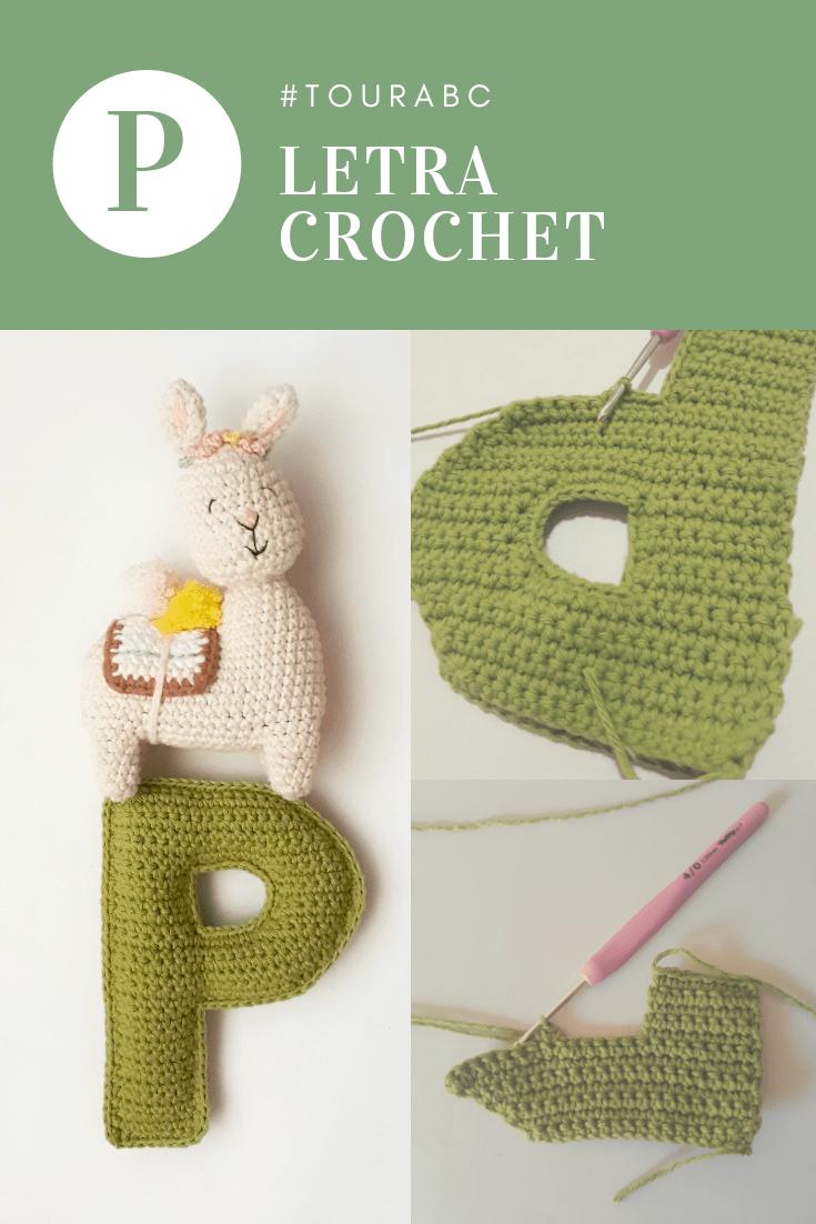 tutorial para tejer la letra P a crochet