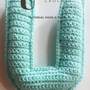 Tutorial para aprender a tejer la Letra U a crochet con fotos paso a paso