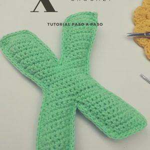 Tutorial gratuito para tejer la Letra X a crochet