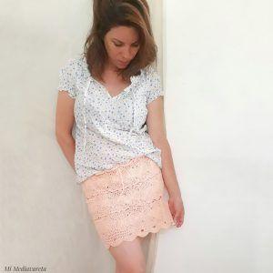 tutorial para tejer una falda a crochet con fotos paso a paso