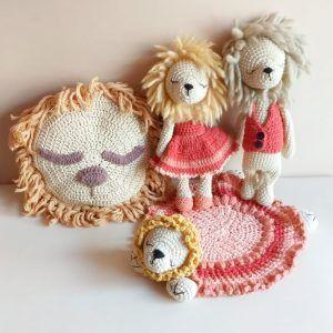 Patrones de leones a crochet