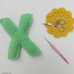 tutorial de la letra x del abecedario a crochet
