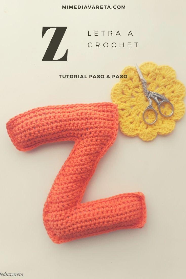 Aprende a tejer la letra Z a crochet