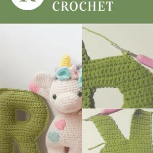 Letra R del abecedario tejida a crochet con tutorial paso a paso