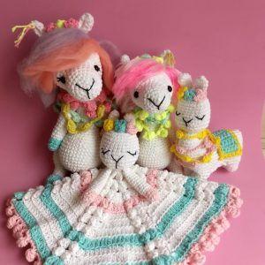 patron llamas a crochet