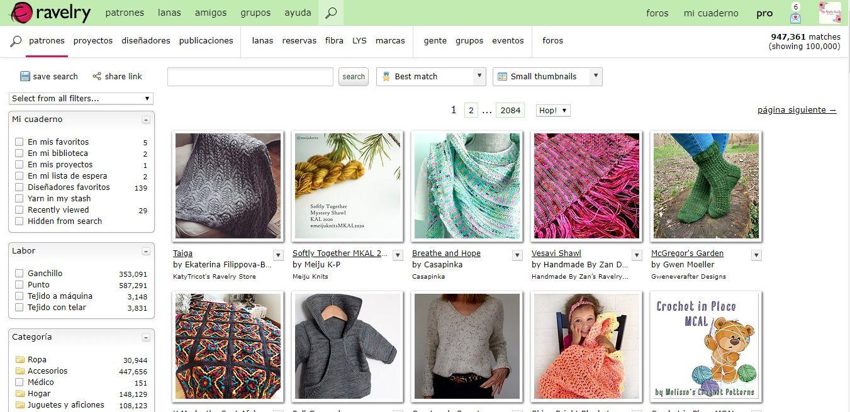 tutorial para aprender a buscar patrones de crochet en mi cuenta Ravelry