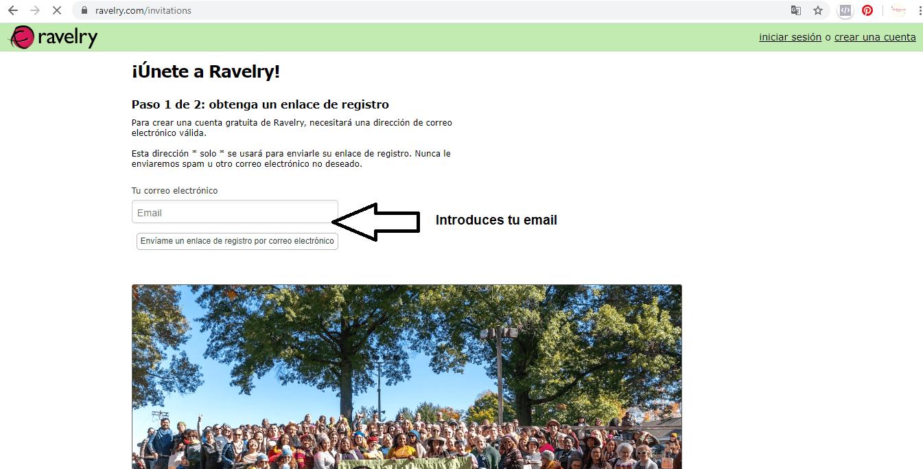 Cómo abrir una cuenta en Ravelry paso a paso