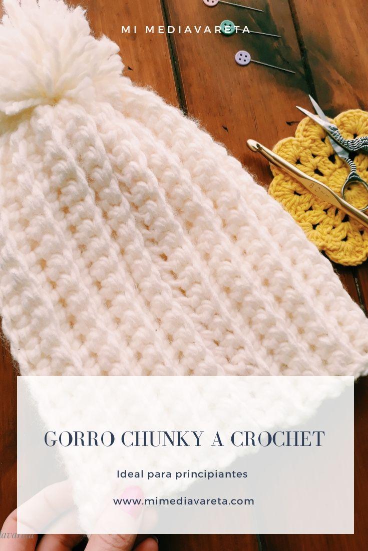 tutorial gorro chunky a crochet para principiantes