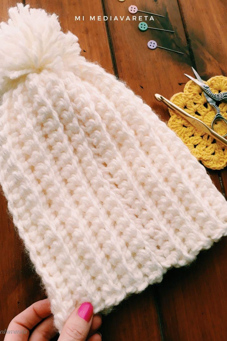 gorro chunky a crochet paso a paso