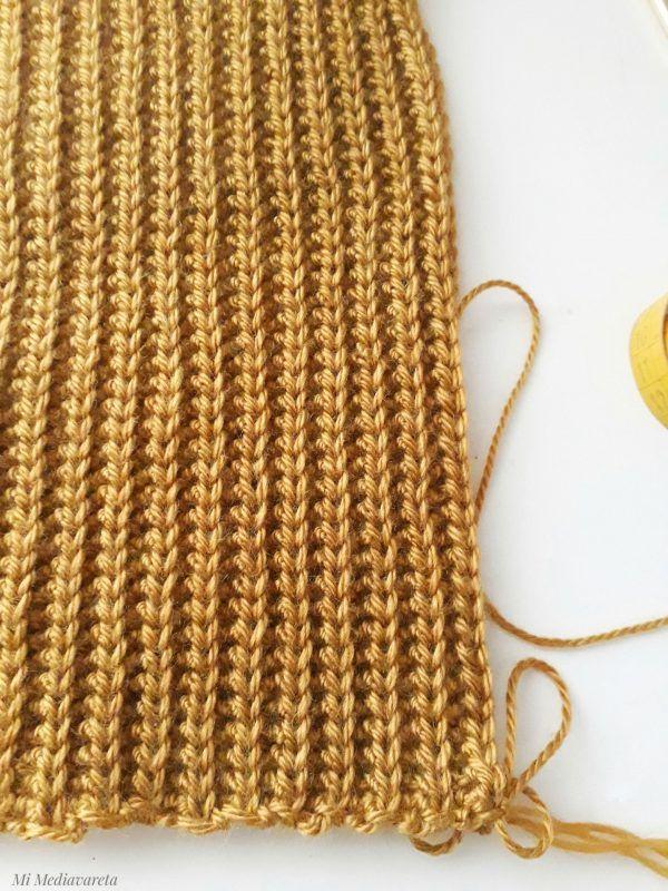 tutorial cuello a crochet en punto falso elástico