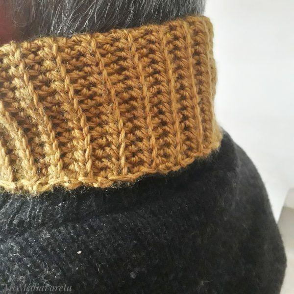 Aprende a tejer un cuello en punto elástico a crochet