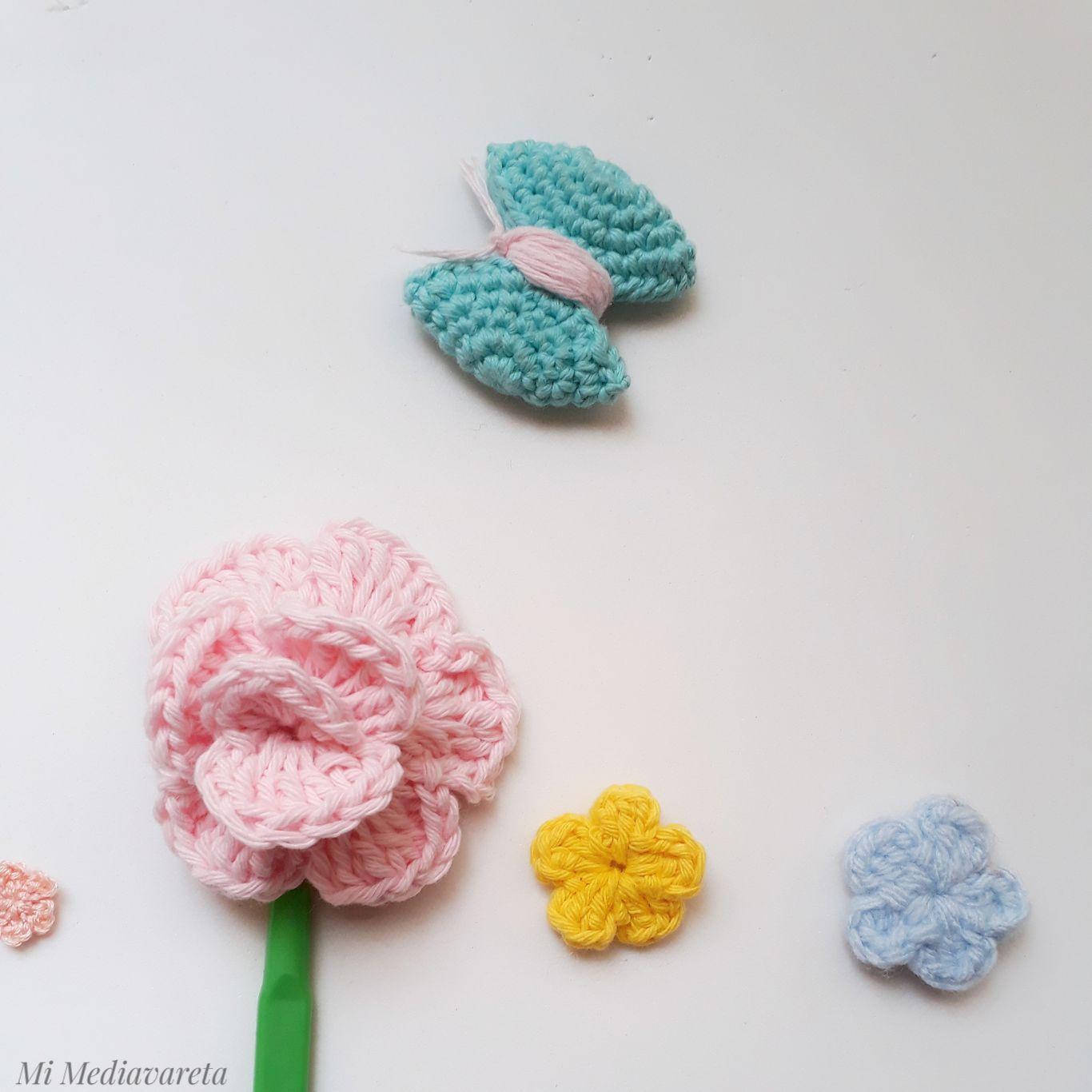 tutorial escrito flores a crochet ideal para principiantes