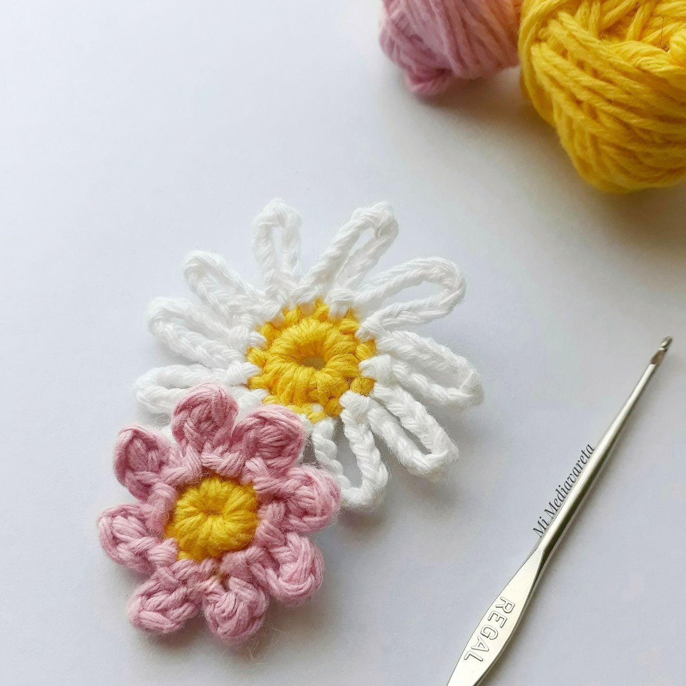 margaritas a crochet paso a paso