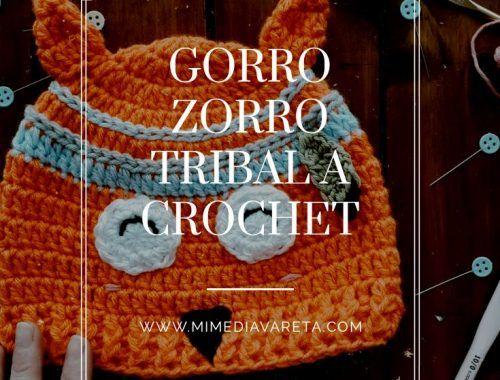 Gorro zorro tribal a crochet