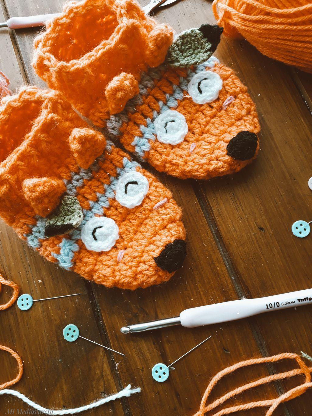 tutorial gratuito para tejer unas pantuflas para niños a crochet