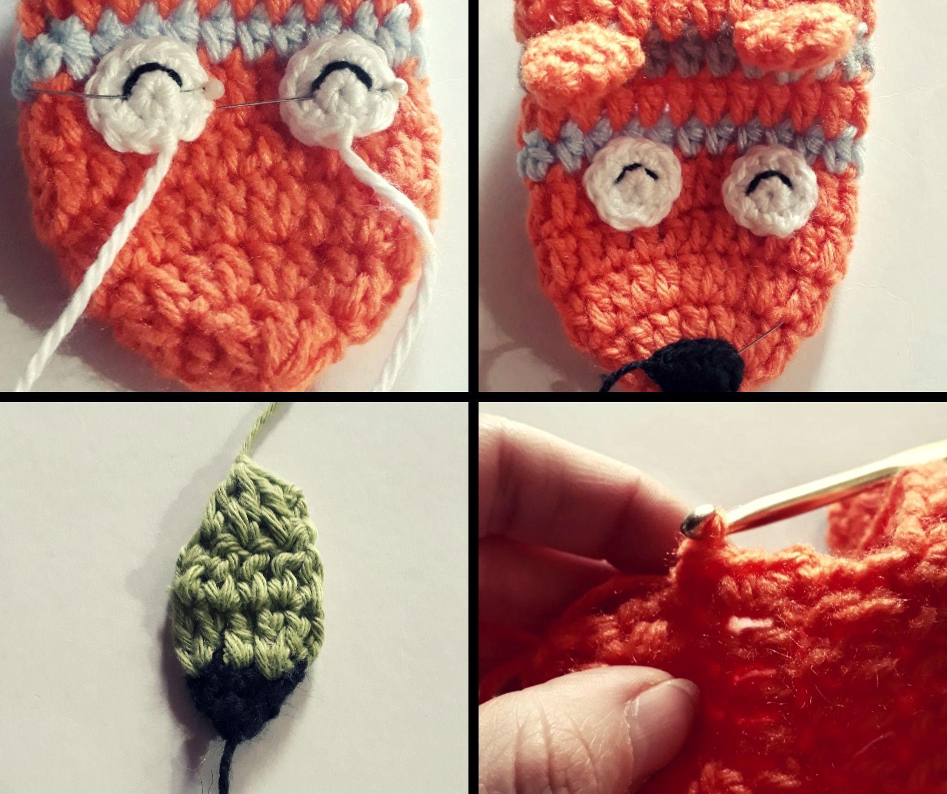 tutorial pantuflas zorro a crochet paso a paso para niños
