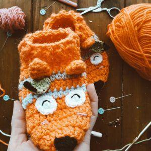 tutorial gratuito para tejer unas pantuflas zorro tribal a crochet para niños