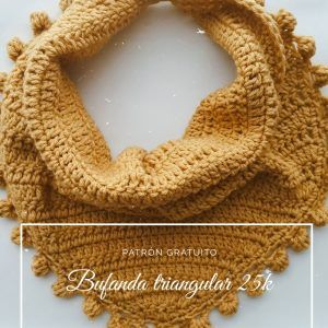 Aprende a tejer una bufanda triangular
