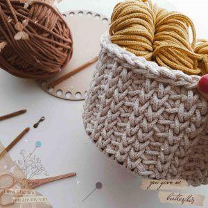 Aprende a tejer el cesto sophie a crochet