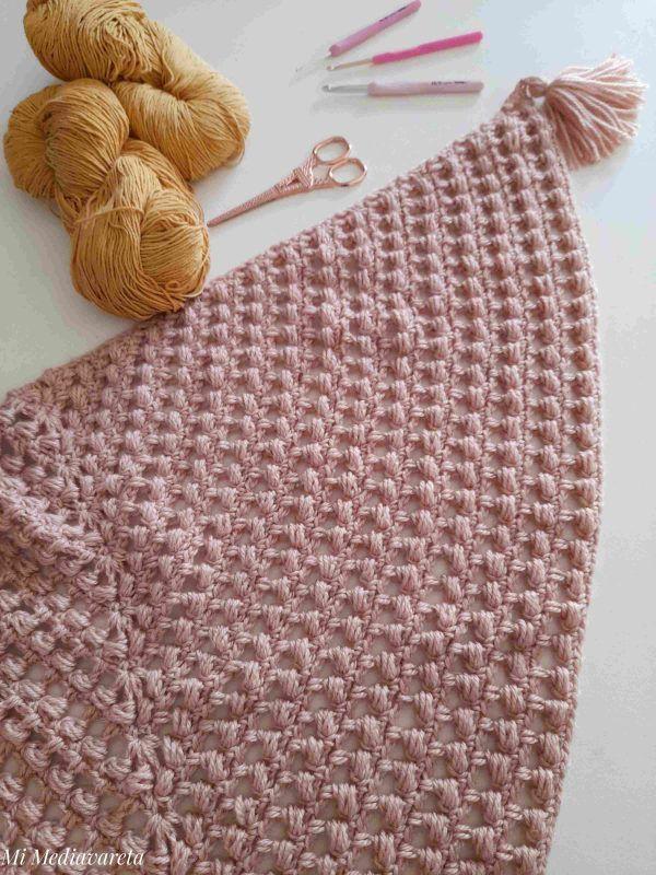 aprende a tejer el chal annette a crochet