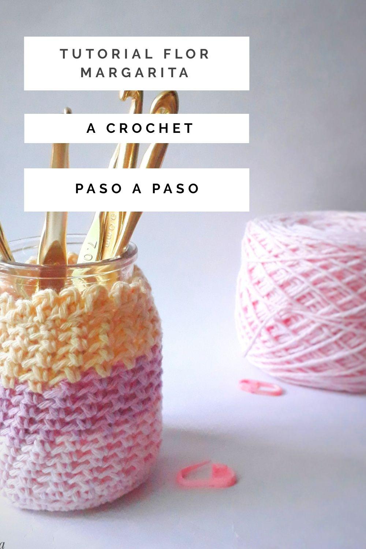 tutorial funda para frasco a crochet paso a paso