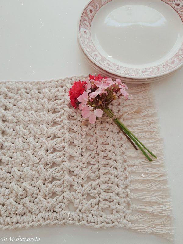 centro de mesa a crochet paso a paso