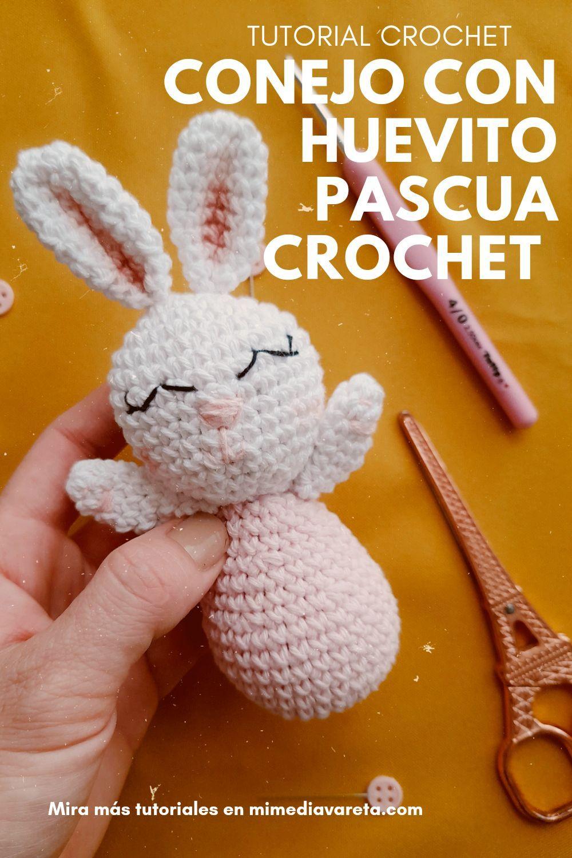 Cómo hacer un conejito de pascua con huevo a crochet super fácil