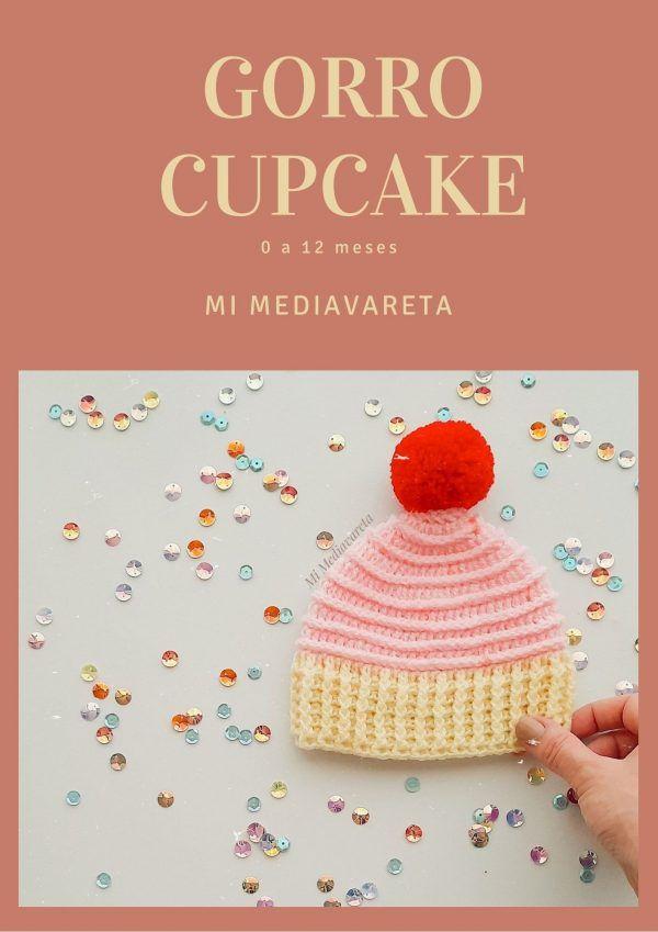 Aprende a tejer el gorro cupcake a crochet