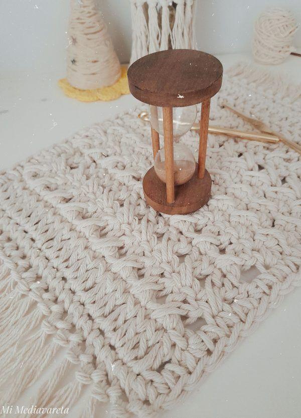 tutorial centro de mesa a crochet