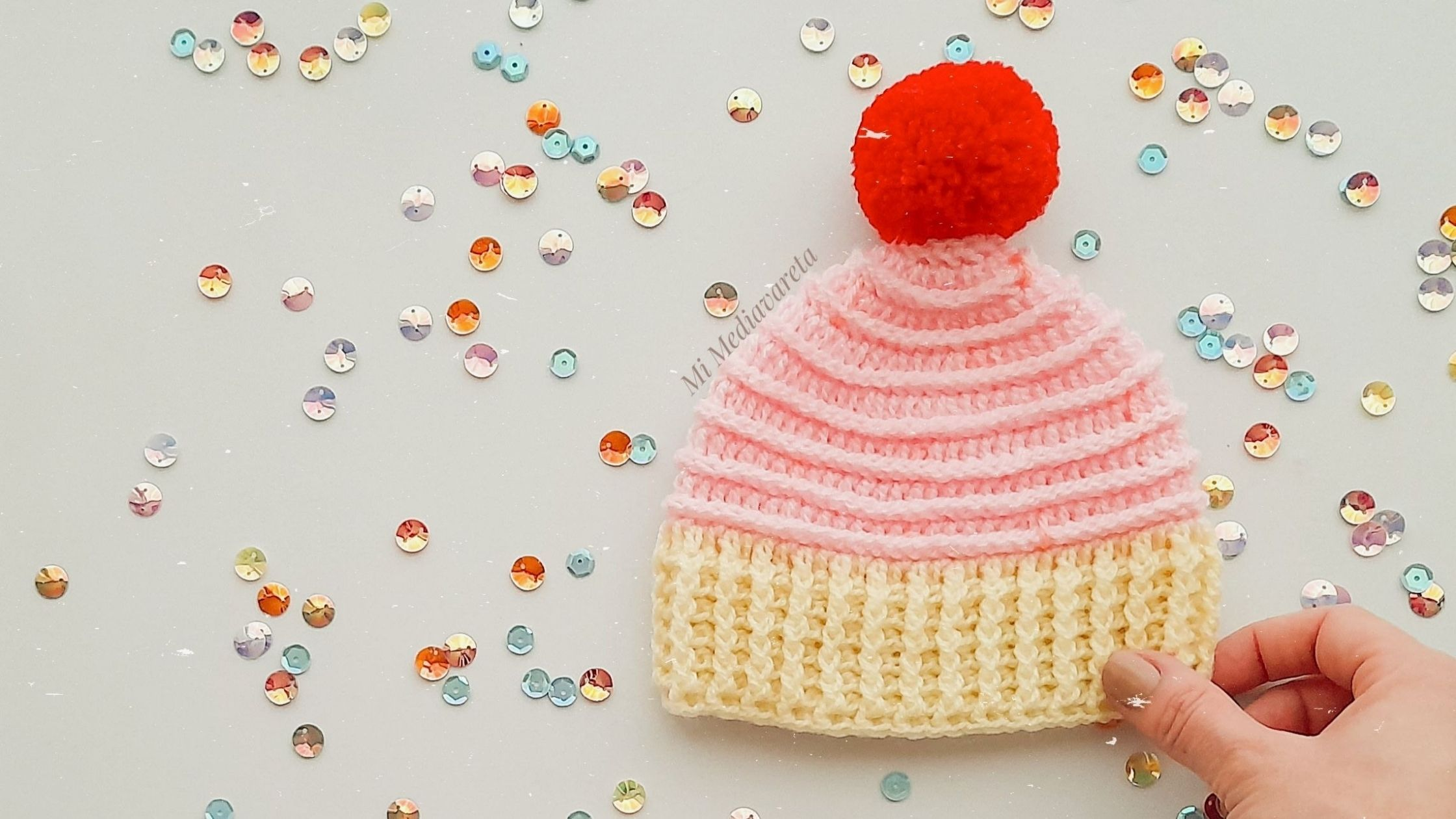 tutorial gorro cupcake a crochet