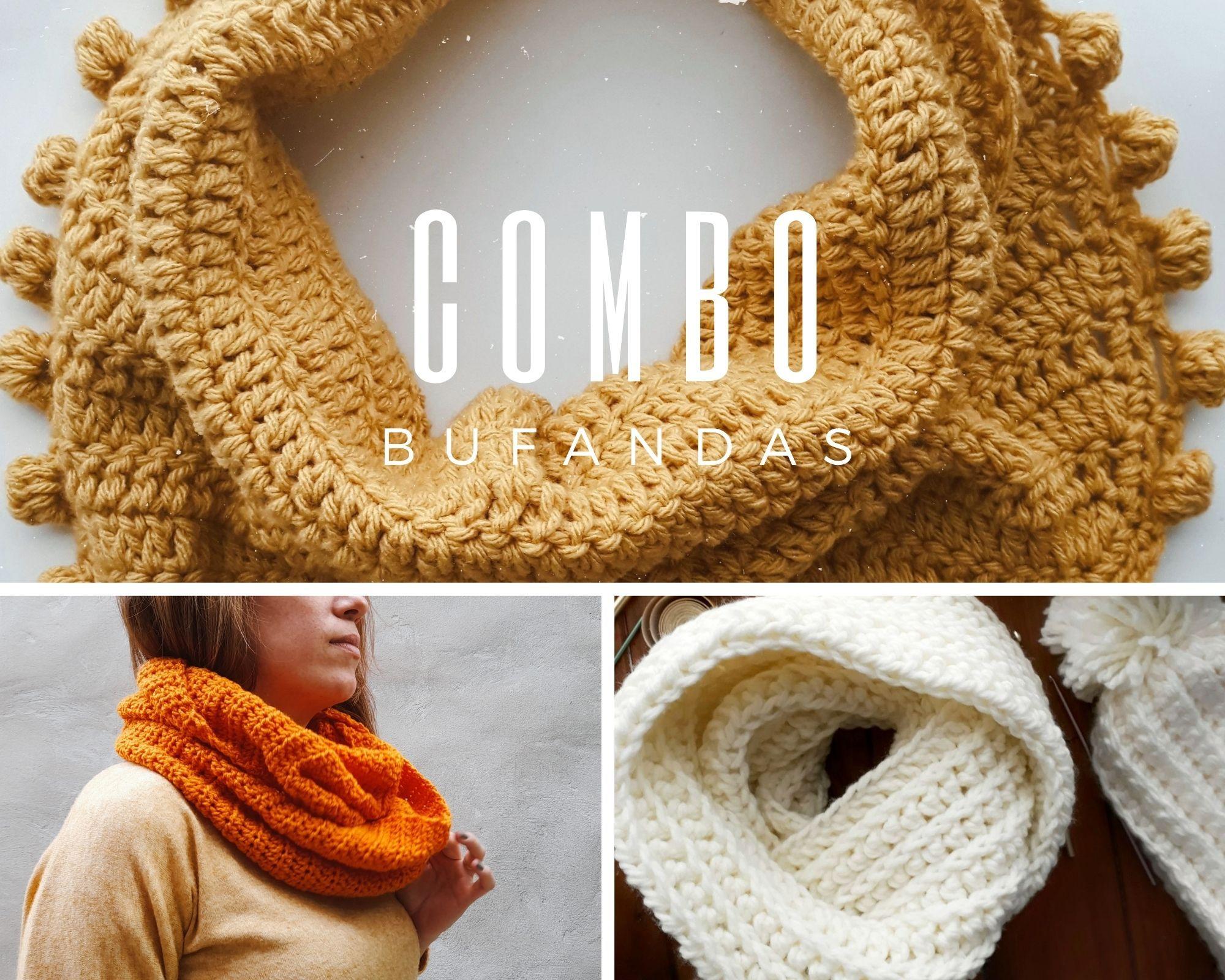 Combo Bufandas a crochet