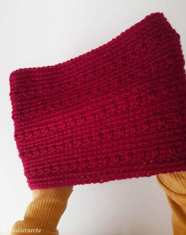 Este es un cuello fácil para tejer a crochet